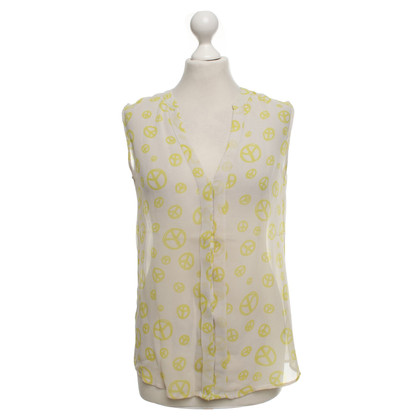 Other Designer I Heart - silk top with pattern