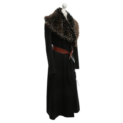 By Malene Birger Coat with fur trim