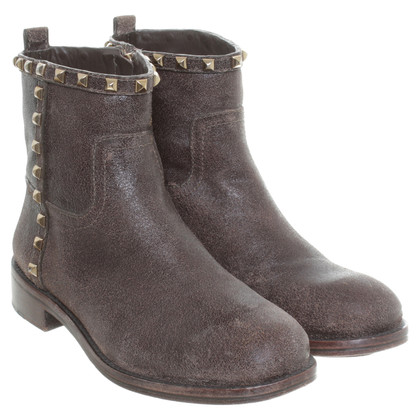 Tory Burch Ankle boots in Brown with rivets