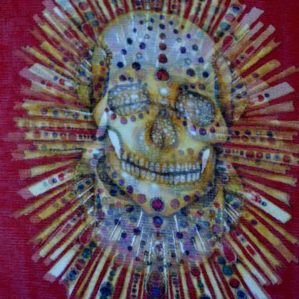 Alexander McQueen XXL zijden doek met patronen
