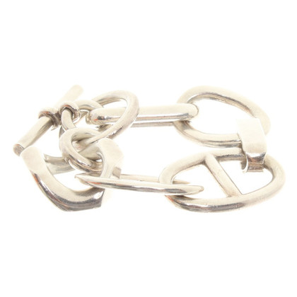 Hermès Zilverkleurige armband