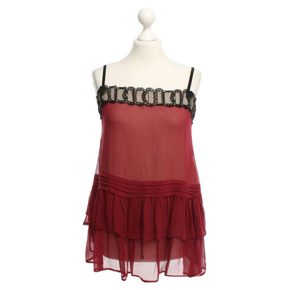 Twin-Set Simona Barbieri Silk top with lace