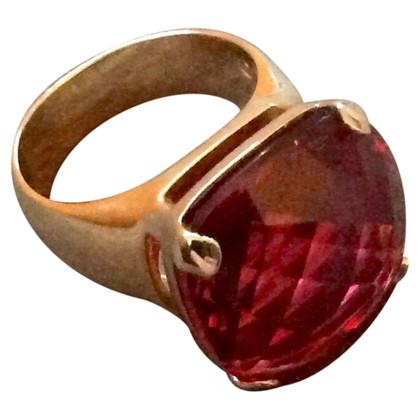 Swarovski Anello con gemma rossa