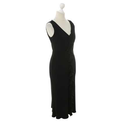 Hobbs Black dress with Flounce