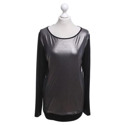 Piu & Piu top in black / silver