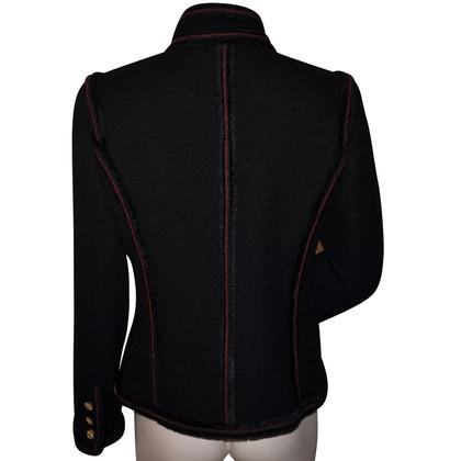 Chanel Giacca di tweed in nero