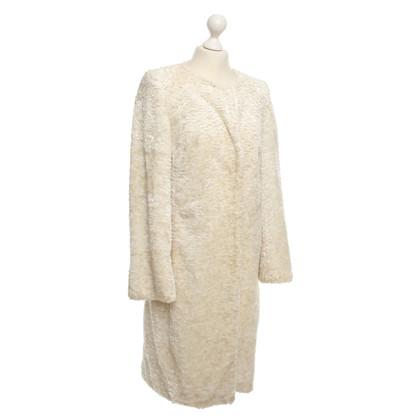 Karen Millen Cappotto di pelliccia in beige