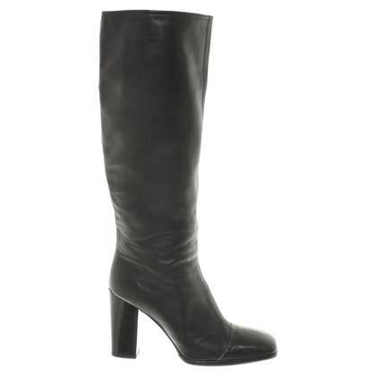 Chanel Leather Boots in Black