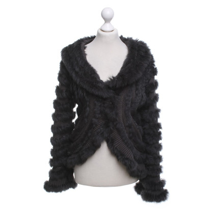 Oakwood Cardigan with fur trim