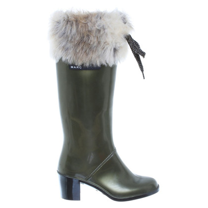 Marc Jacobs Olive green rubber boots