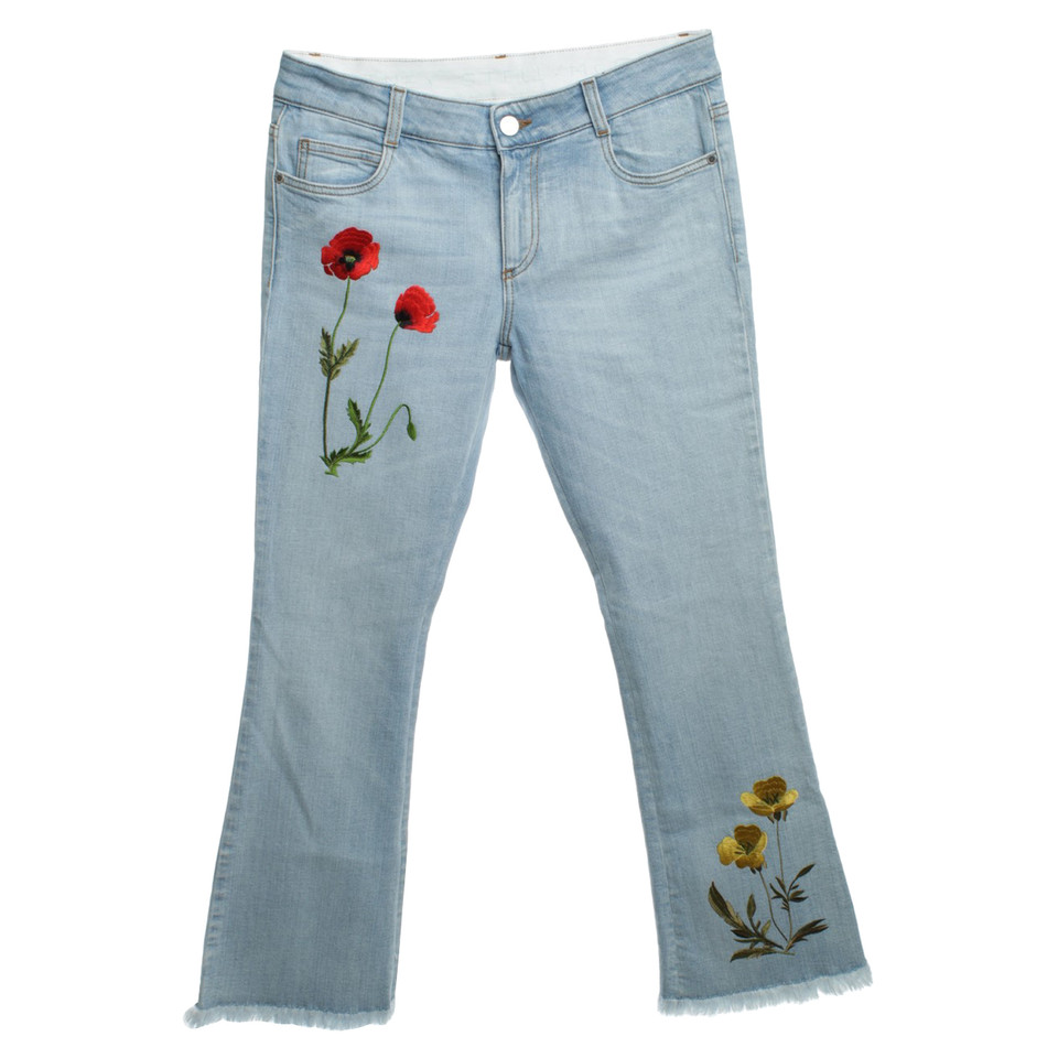 Stella McCartney Jeans with floral embroidery