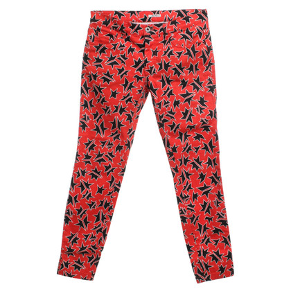 Miu Miu Jeans in coral red with motif