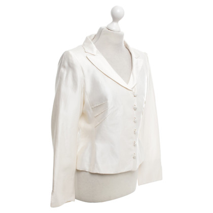 Rena Lange Silk blazer in cream