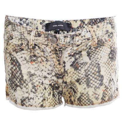 Isabel Marant corduroy shorts in snake print