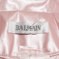 Balmain Coat in mother-of-pearl look
