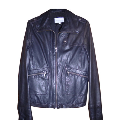 Turnover Sporty nappa leather jacket