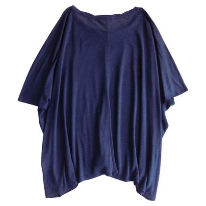 Acne Oversized linnen blouse in blauw