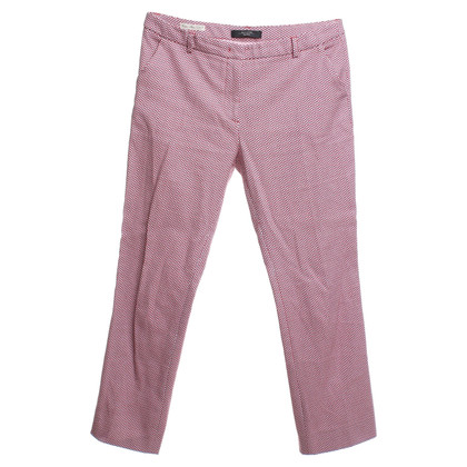 Max Mara Cotton trousers in red / white