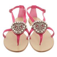 Manolo Blahnik Sandals in fuchsia