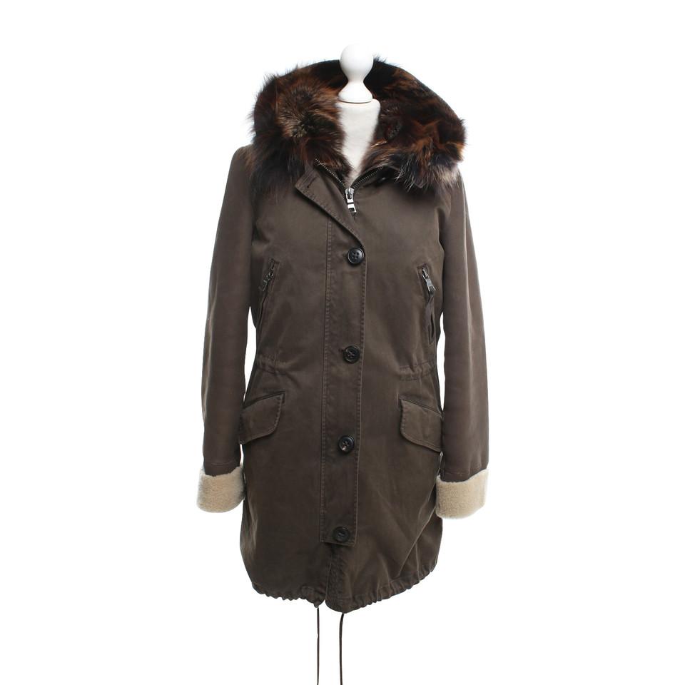 blonde no8 winter jacket in olive buy second hand blonde. Black Bedroom Furniture Sets. Home Design Ideas