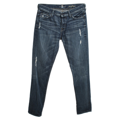 7 For All Mankind Used-Jeans mit Waschung