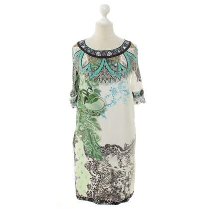 Etro zijden jurk afdrukken