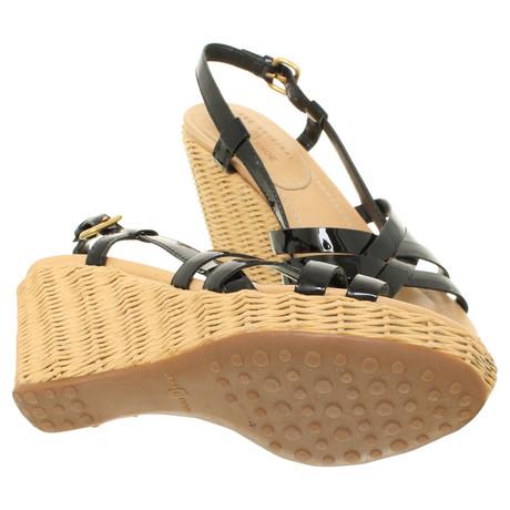 mit Schwarz Keilabsatz Schwarz Shoe Sandaletten mit Car Schwarz Sandaletten Shoe Shoe Sandaletten Keilabsatz mit Car Car Keilabsatz UwfR6qg