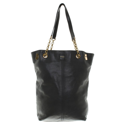 Maje Handbag in black leather