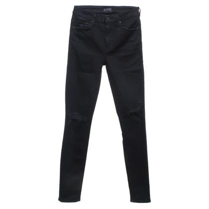 Mother Skinny-Jeans in Schwarz
