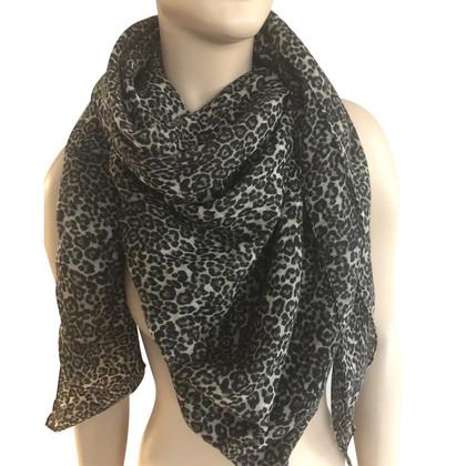 Saint Laurent Cloth with leopard print