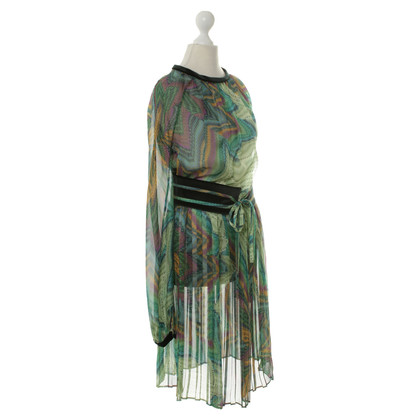 Emanuel Ungaro Green pattern dress