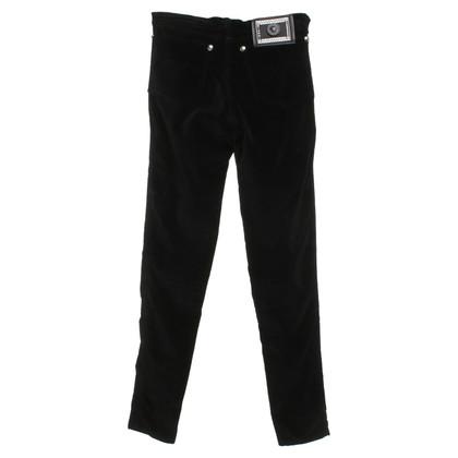 Gianni Versace pantaloni di velluto in blu scuro