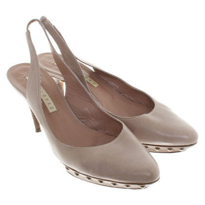 Pura Lopez Sling-pumps in Taupe