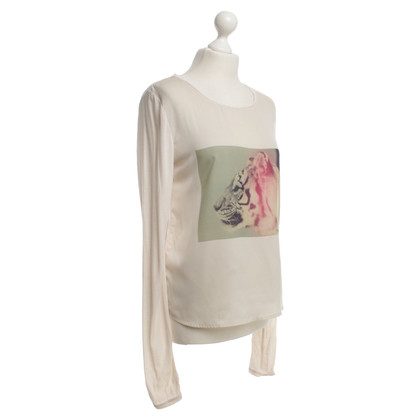 Maison Scotch Top met print motief