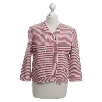 Chanel Cardigan in rosso / bianco