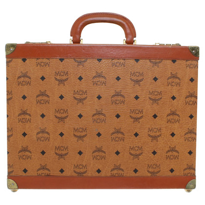 MCM Briefcase with monogram pattern