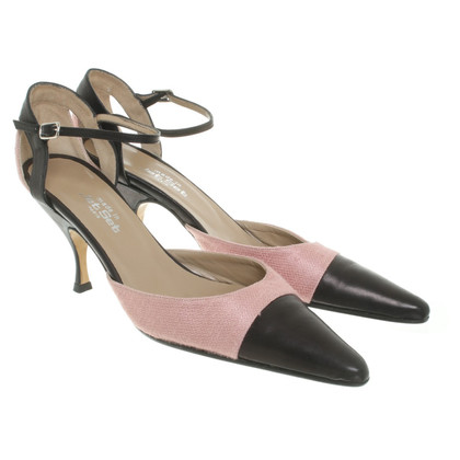 Jet Set pumps in rosa / nero
