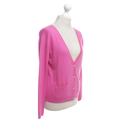 FTC Cashmere cardigan in pink / orange