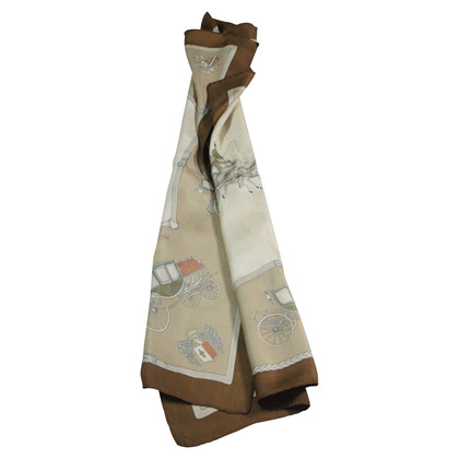 Céline Silk scarf with carriage motif