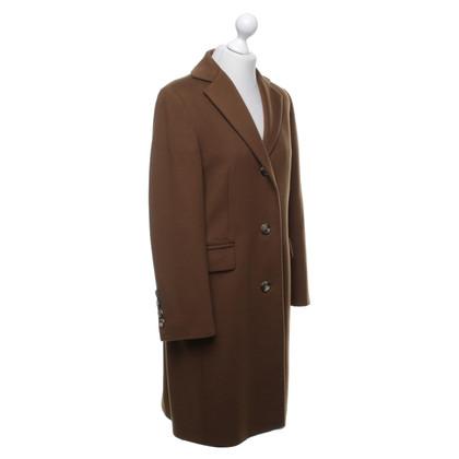 Windsor Wollen jas in bruin