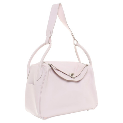 "Hermès Handbag ""Lindy"" in pastel pink"