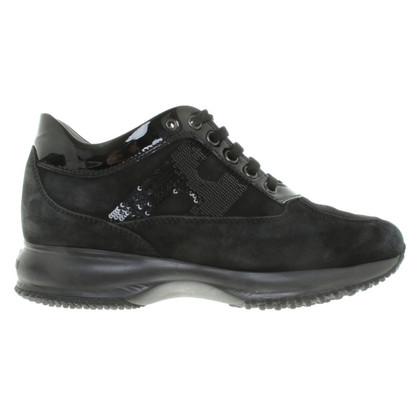 Hogan Plateau-Sneakers mit Pailletten-Besatz