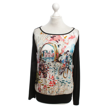 Piu & Piu Silk top with print