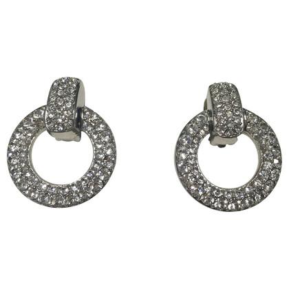 Christian Dior Clip oorbellen met edelstenen