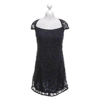 Hoss Intropia Kleid in Schwarz/ Blau