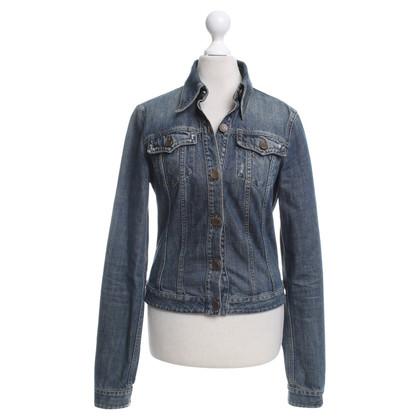 Patrizia Pepe giacca di jeans in azzurro