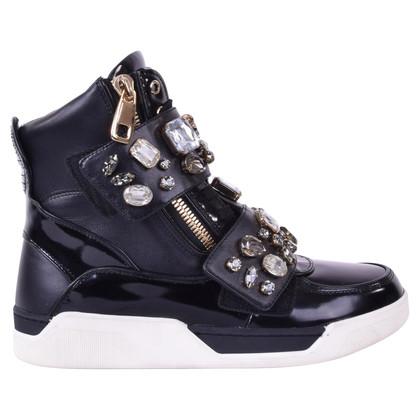 Dolce & Gabbana Sneaker with gemstone trim