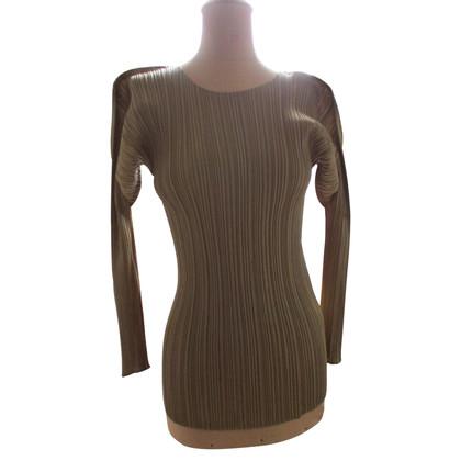 Issey Miyake shirt de couleur or