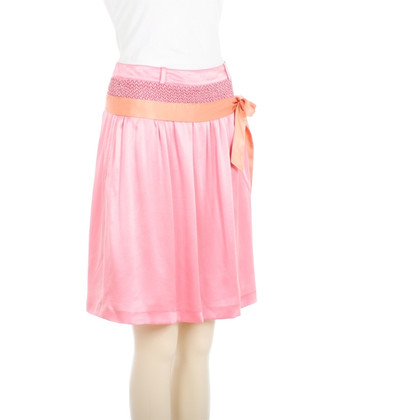 Hugo Boss Pink silk skirt