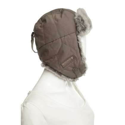 Woolrich Aviator hat with rabbit fur